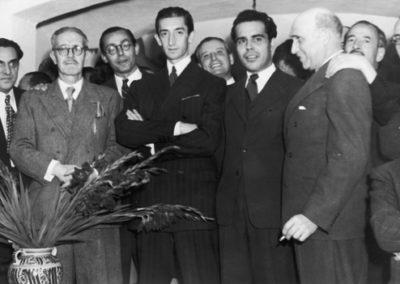 En la Embajada de Ecuador en México (1945). Homenaje del profesor D. Antonio Jaén Morente.